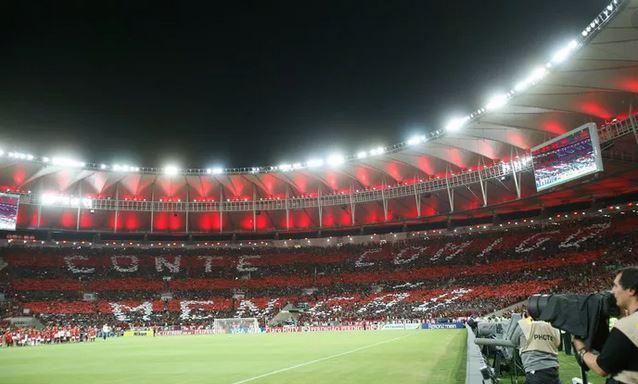 Flamengo fan base in the stadium.